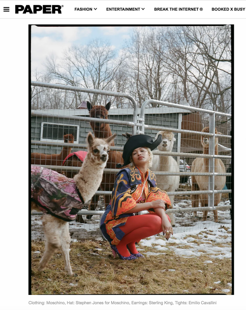 Sterling King Molten Loop Earrings featured in Paper Magazine, April 2020