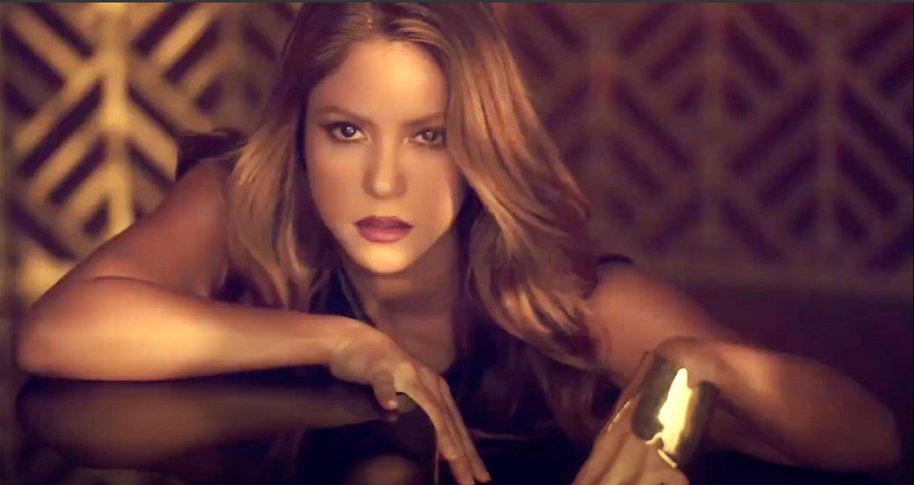 Shakira Wears Sterling King Gold Magma Hand Cuff to promote her new perfume