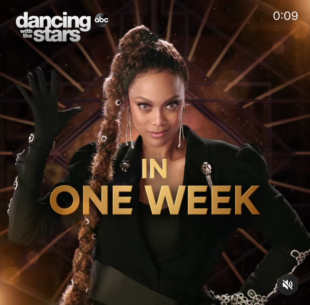 Tyra Banks wears Sterling King Crystal Leopard Earrings and Brooch while hosting Dancing with the Stars on ABC