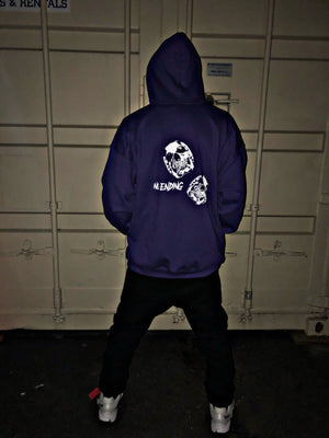 Double Skull's Zip Up Hoodie (Purple)
