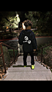 Double Skull's Zip Up Hoodie (Black)