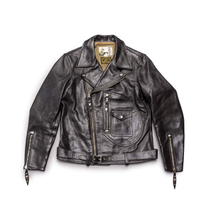 Shinki Horsehide Black Oil Tanned