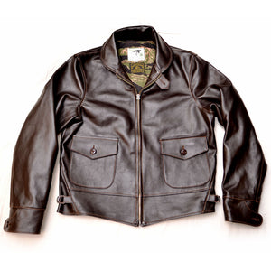 Shinki Horsehide Dark Brown Oil Tanned