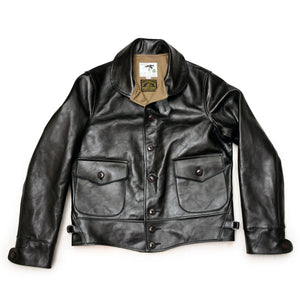 Shinki Horsehide Black Pigment Finish