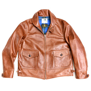 Shinki Horsehide Medium Brown Oil Tanned