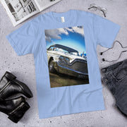 1960 DeSoto Adventurer on baby blue American Apparel T-Shirt by SWIMSTR