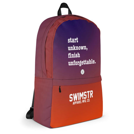 Start Unknown Finish Unforgettable Backpack