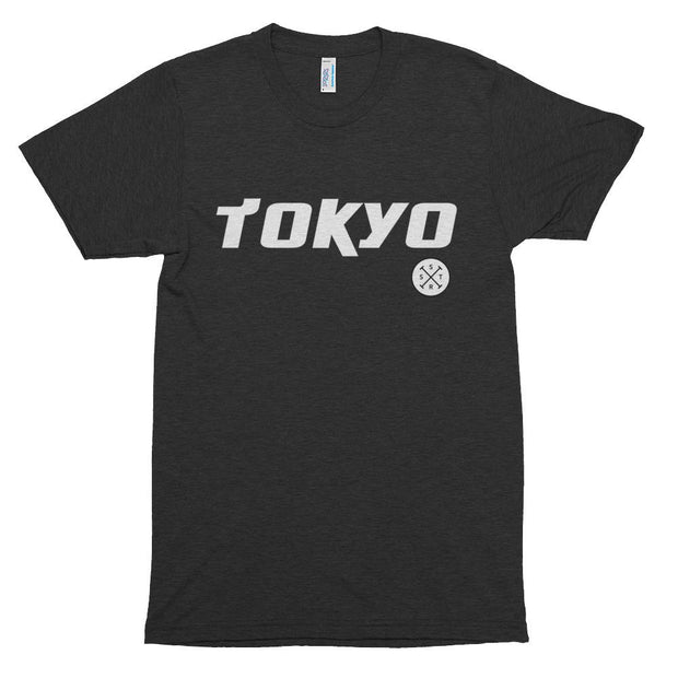 Swimming Track Shirt in Black. Tokyo 2020 Olympic Sport.