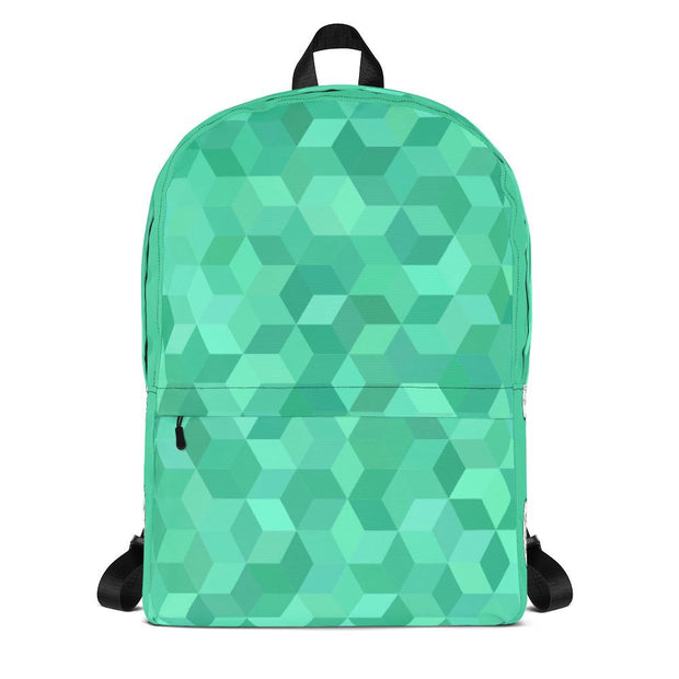 Green Cubed Backpack