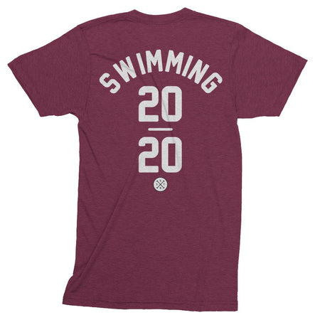 Swimming Track Shirt in Cranberry. Tokyo 2020 Olympic Sport.