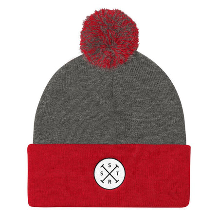 The Black Line Pom Pom Knit Cap - SWIMSTR™