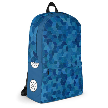Blue Cubed Backpack