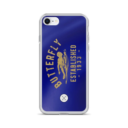 Butterfly Established 1933 Dark Blue iPhone Case