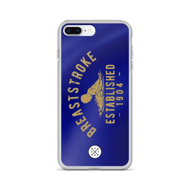 Breaststroke Established 1904 Dark Blue iPhone Case