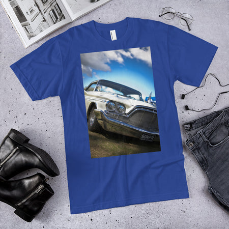 1960 DeSoto Adventure on royal blue American Apparel T-Shirt by SWIMSTR