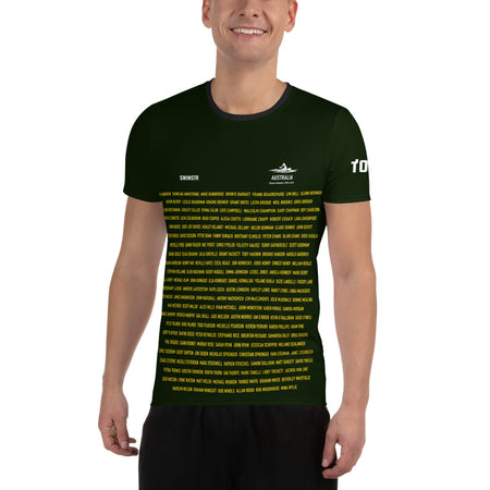 Australian Swimming Olympic Medalists Training T-Shirt Tokyo 2020. List of all Australian Olympic Swimming Medalists 1900 to 2016 to celebrate Tokyo 2020 Olympics