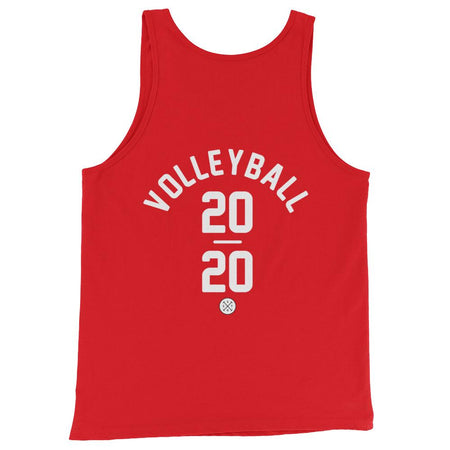 Volleyball Unisex Tank in Red. Tokyo 2020 Olympic Sport.