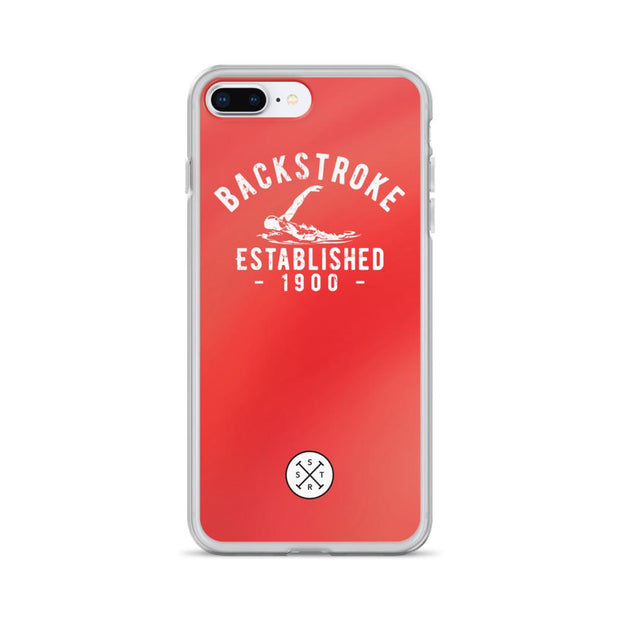 Backstroke Established 1900 Red iPhone Case