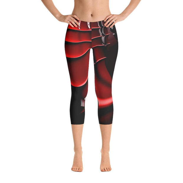 Red Samurai Capri Leggings