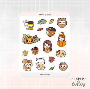 Fall Time / Autumn Decoration Stickers (DE008)
