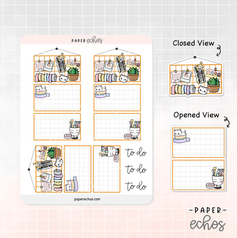 Planning Items Board Foldable Planner Sticker (FD001)