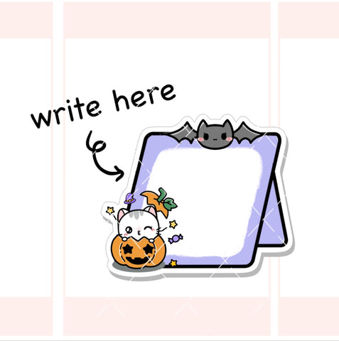 Halloween Boards  Functional Planner Stickers (FT051)