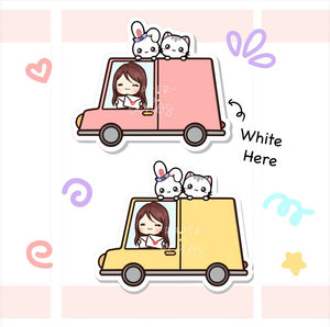 Happy Mail Delivery Car Box Sticker ( FT055)