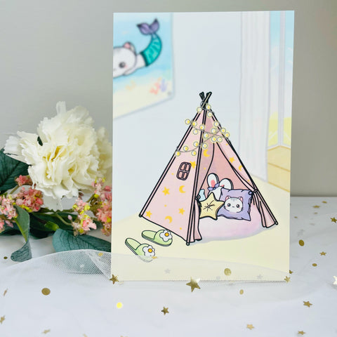 Teepee / Sweet Home Tent Journaling Card (JC002)