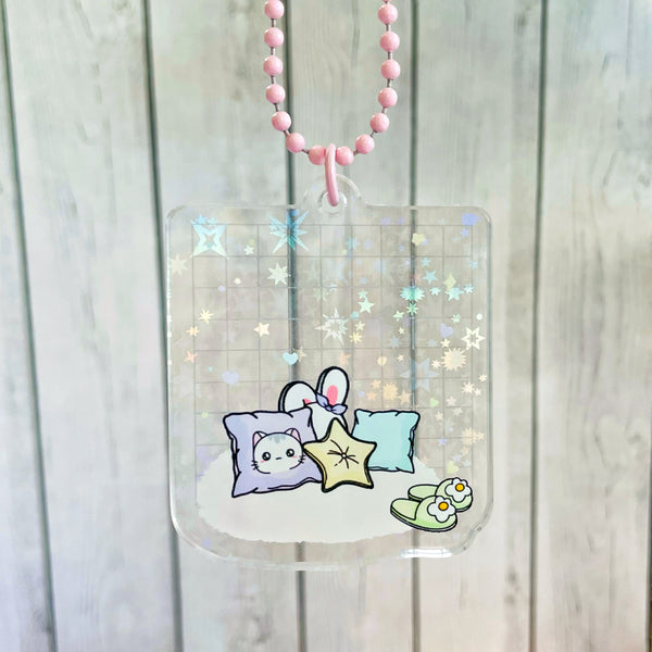 Cute Cushions Holographic Acrylic Mini Washi Card Planner Charm (WC004)