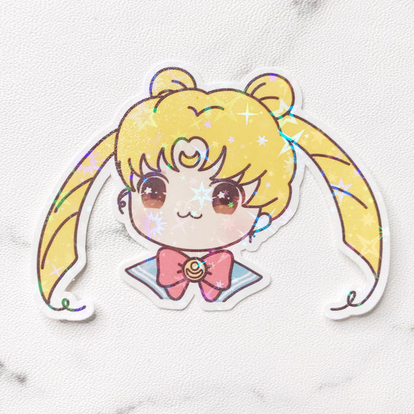 Sailor Moon Sunny the Girl Vinyl Holographic Flake Die Cut Sticker (DC025)