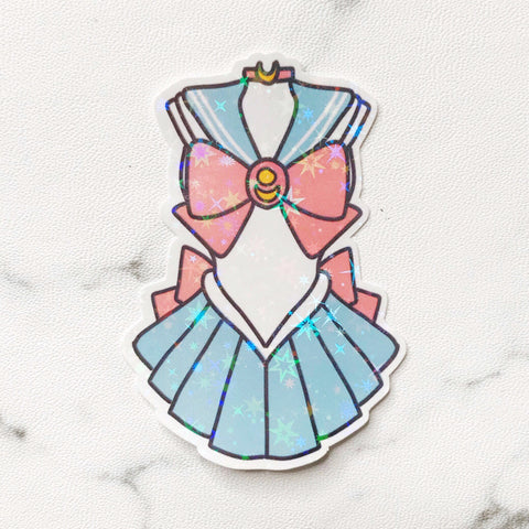 Sailor Moon Uniform Vinyl Holographic Flake Die Cut Sticker (DC026)