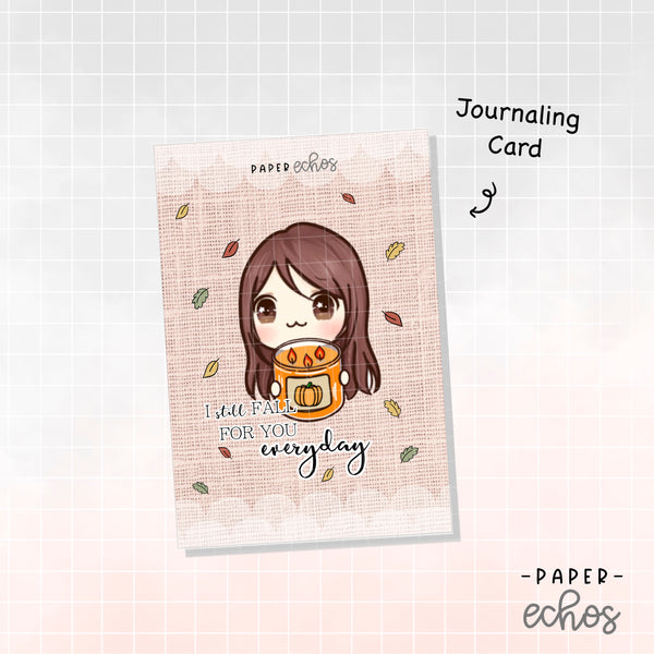 Sunny the Girl Fall Candle Journaling Card (JC010)