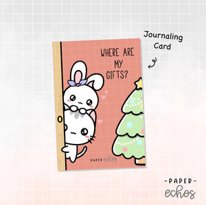 Merry Christmas Character Journaling Card (JC012)