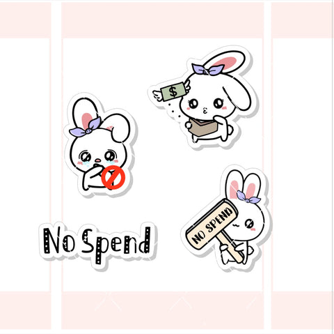 No Spend Sugar Bun the Bunny Character Sticker (SB010)