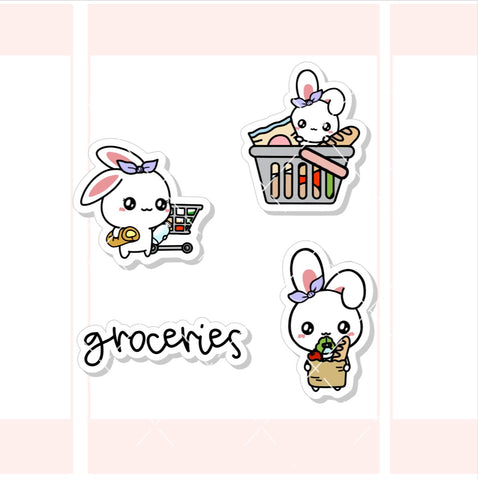 Grocery Shopping Sugar Bun the Bunny Character Sticker (SB007)