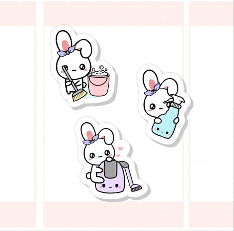 Cleaning / Chores Sugar Bun the Bunny Sticker (002)
