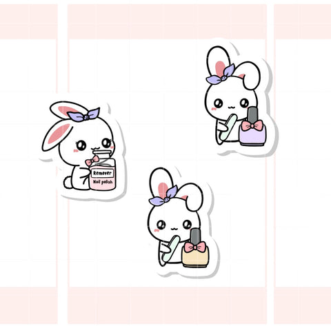 Manicure / Paint Nails Sugar Bun the Bunny Sticker (003)