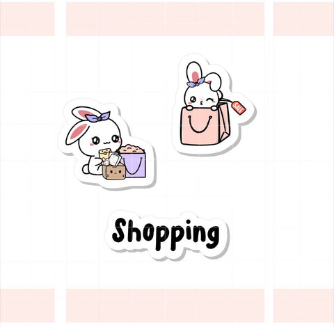 Shopping Sugar Bun the Bunny Sticker (004)