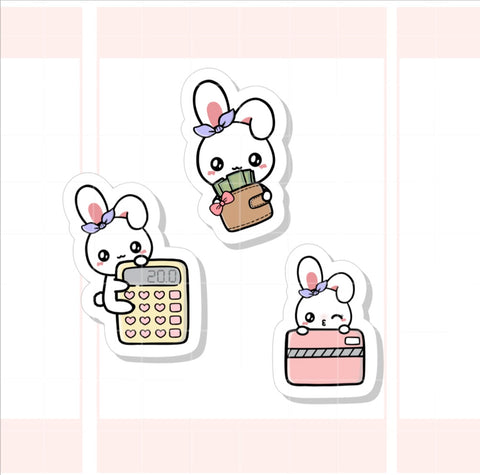 Finance / Budget Sugar Bun the Bunny Sticker (005)