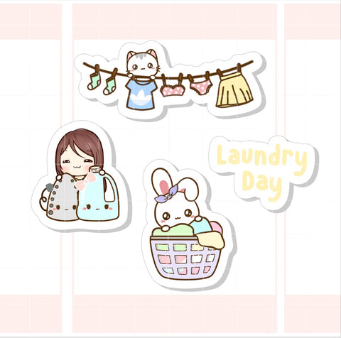 Laundry Day Character Sticker (006)
