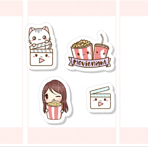 Movie Night Character Sticker (007)