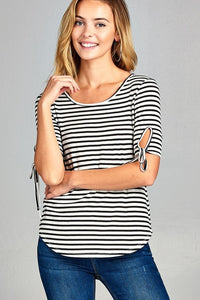 Stripe tied Tee
