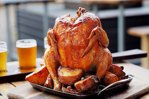 BBQthingz™ | Beer Chicken Recipe - Chicken with Orange Wheat Beer Sauce
