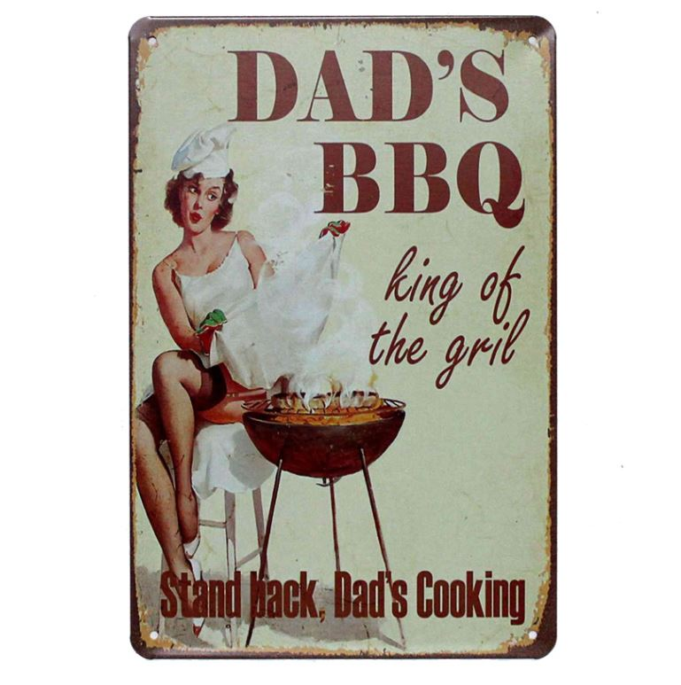 Dad's BBQ Metal Tin Wall Decoration - BBQthingz.com | Tools & Sauces