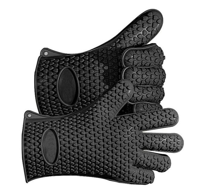 Heavy Duty Silicone Grilling Glove Oven Mitts