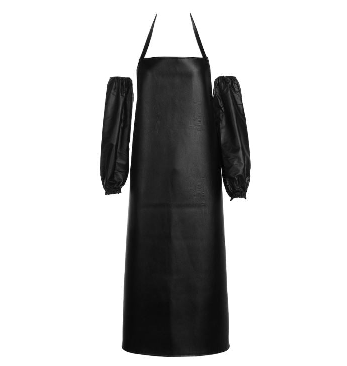 Heavy Duty Faux Leather Mens Grilling Apron and Arm Guards