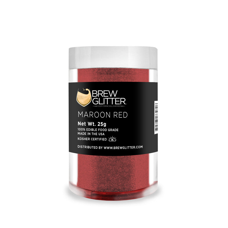 Maroon Red Brew Glitter | Food Grade Beverage Glitter