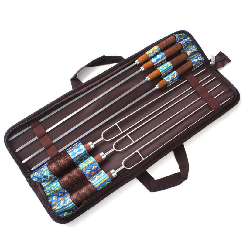 "7 PC Set 19"" Skewer Gift Set With Case"