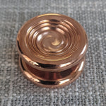 24.1mm Polished Copper Cupped Swirl Buttons