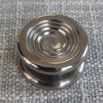 24.1mm Polished Titanium Cupped Swirl Buttons